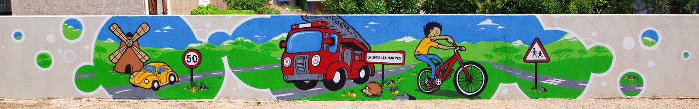 Fresque participative à l'école