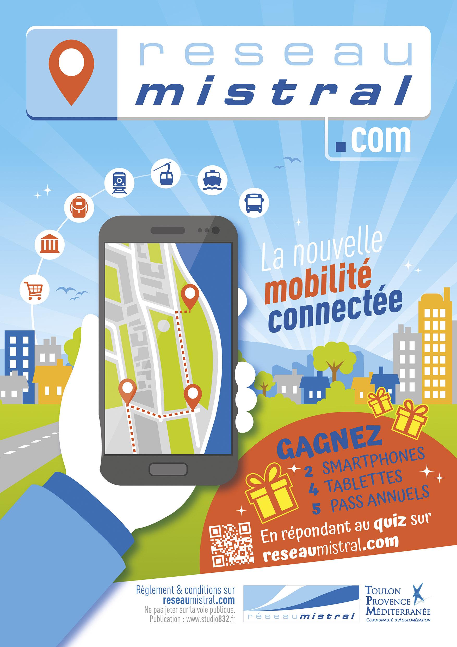 Campagne de communication, lancement de site Web, Réseau de transport Toulon