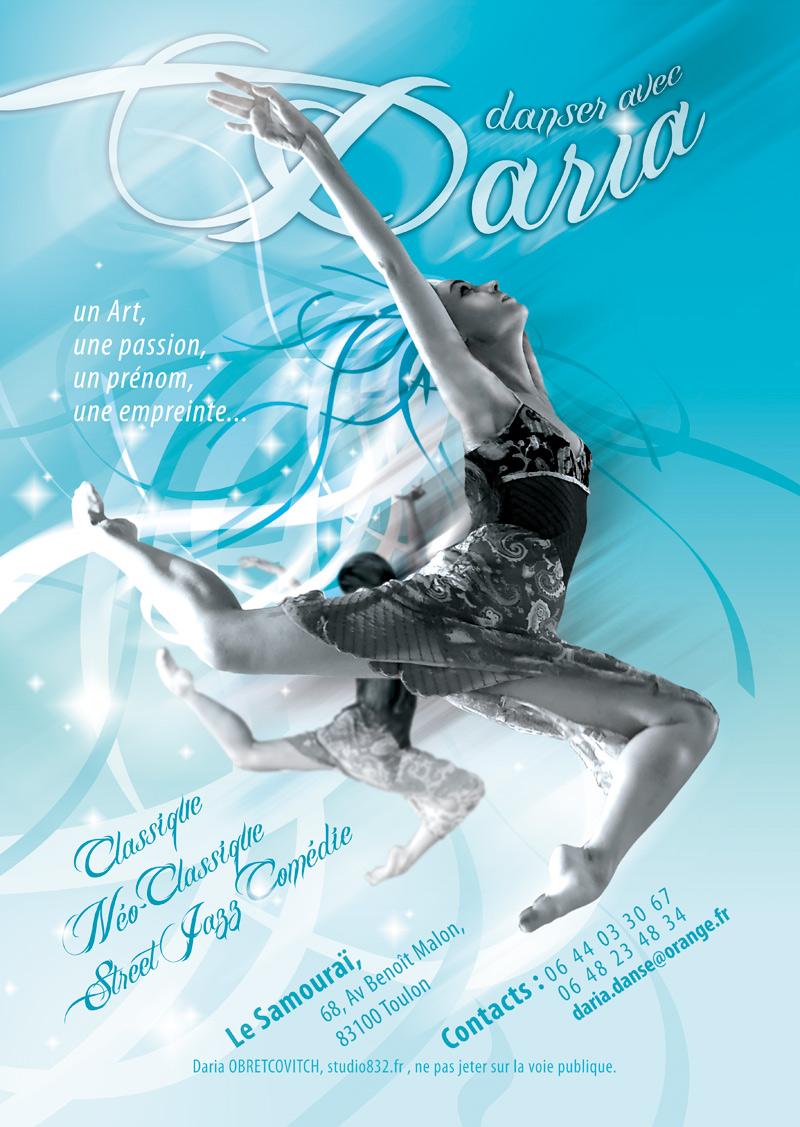 Shooting photo & création de visuel Danse Toulon