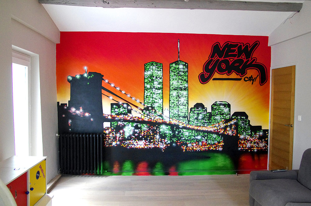 Fresque murale d corative studio 832 toulon paca for Deco de chambre new york
