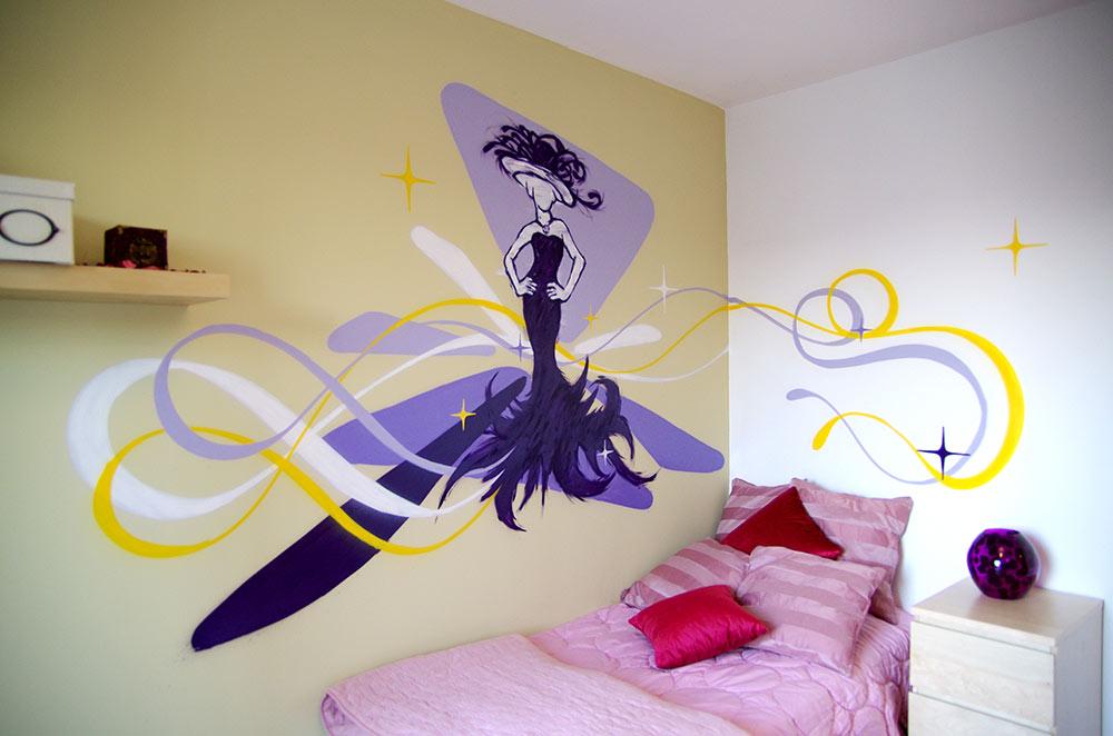 Fresque chambre couture mode Hyères
