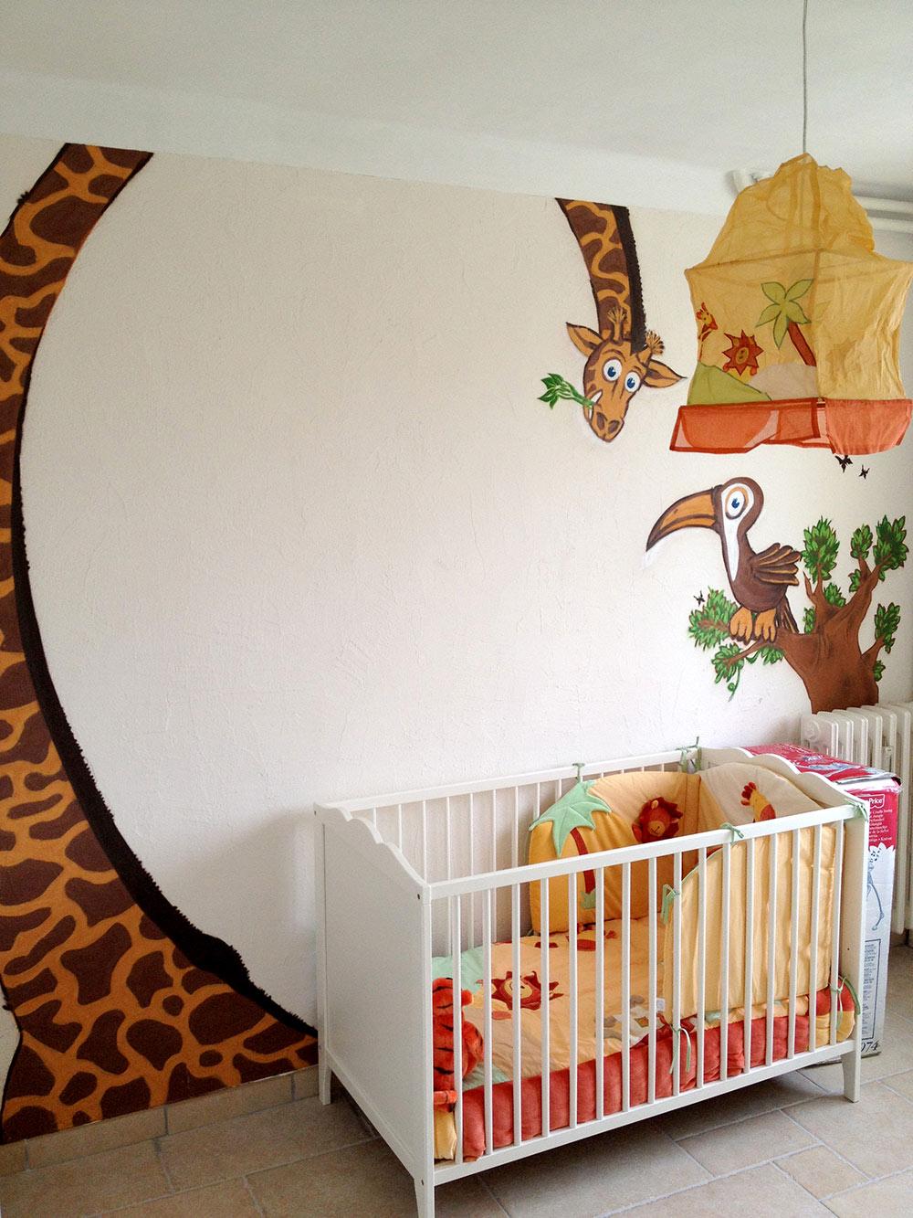 Fresque chambre animaux Toulon