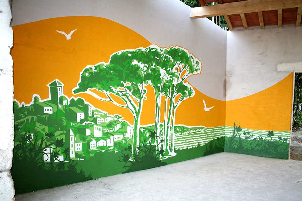 Fresque murale Toulon Provence