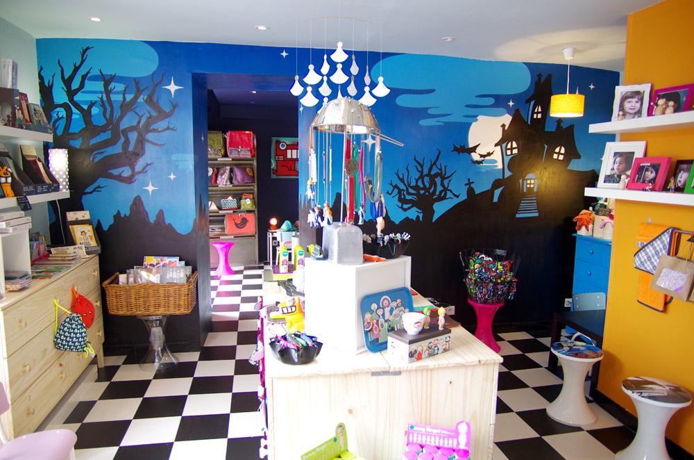 Fresque magasin jouets enfant Toulon Var