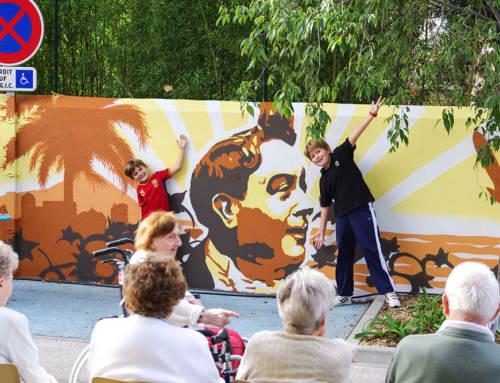 Fresque participative à Toulon, EHPAD Maison de retraite La Minorque et SLAJ  Revest, Var, PACA