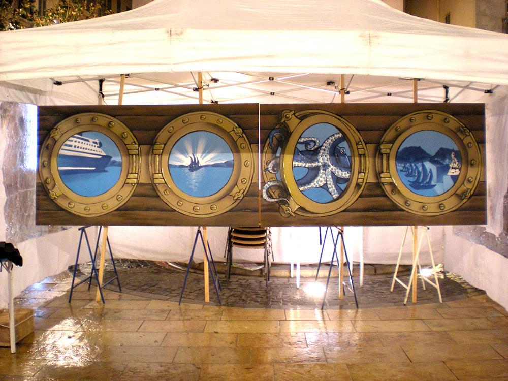 Fresque comité des fêtes centre ville Toulon