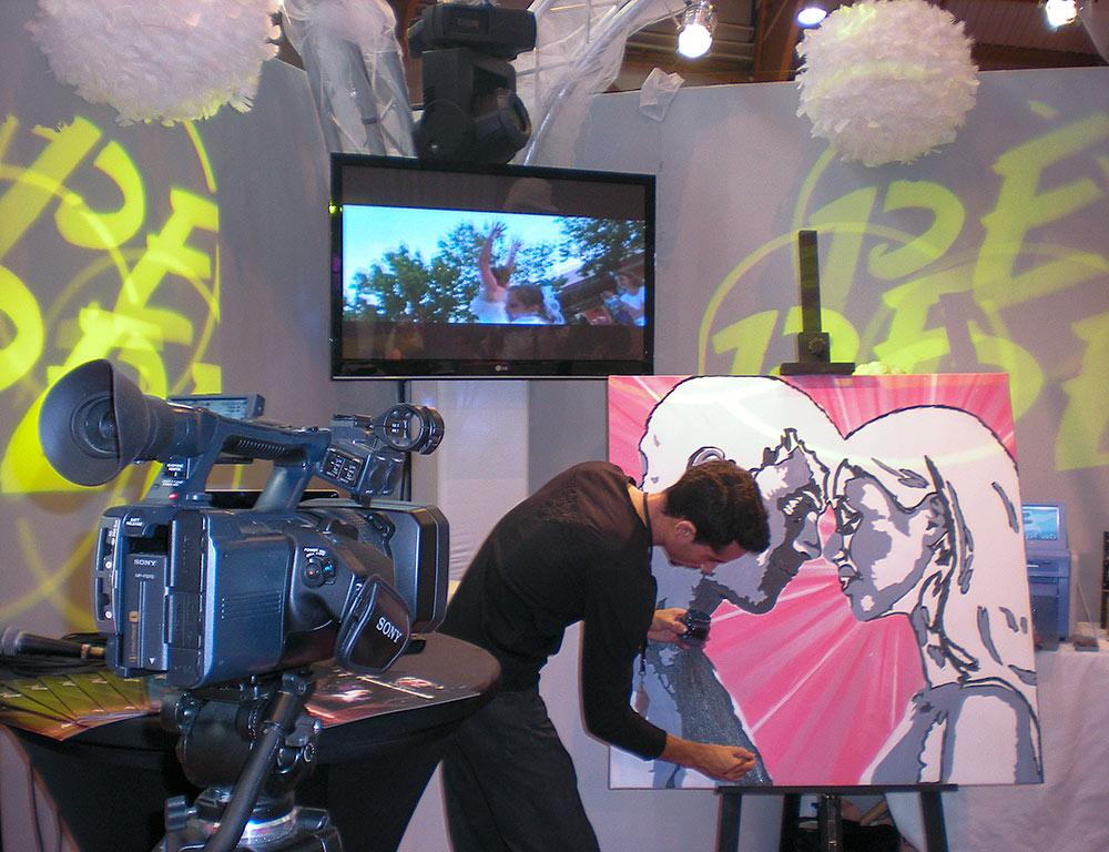 Fresque live mariage Hyères