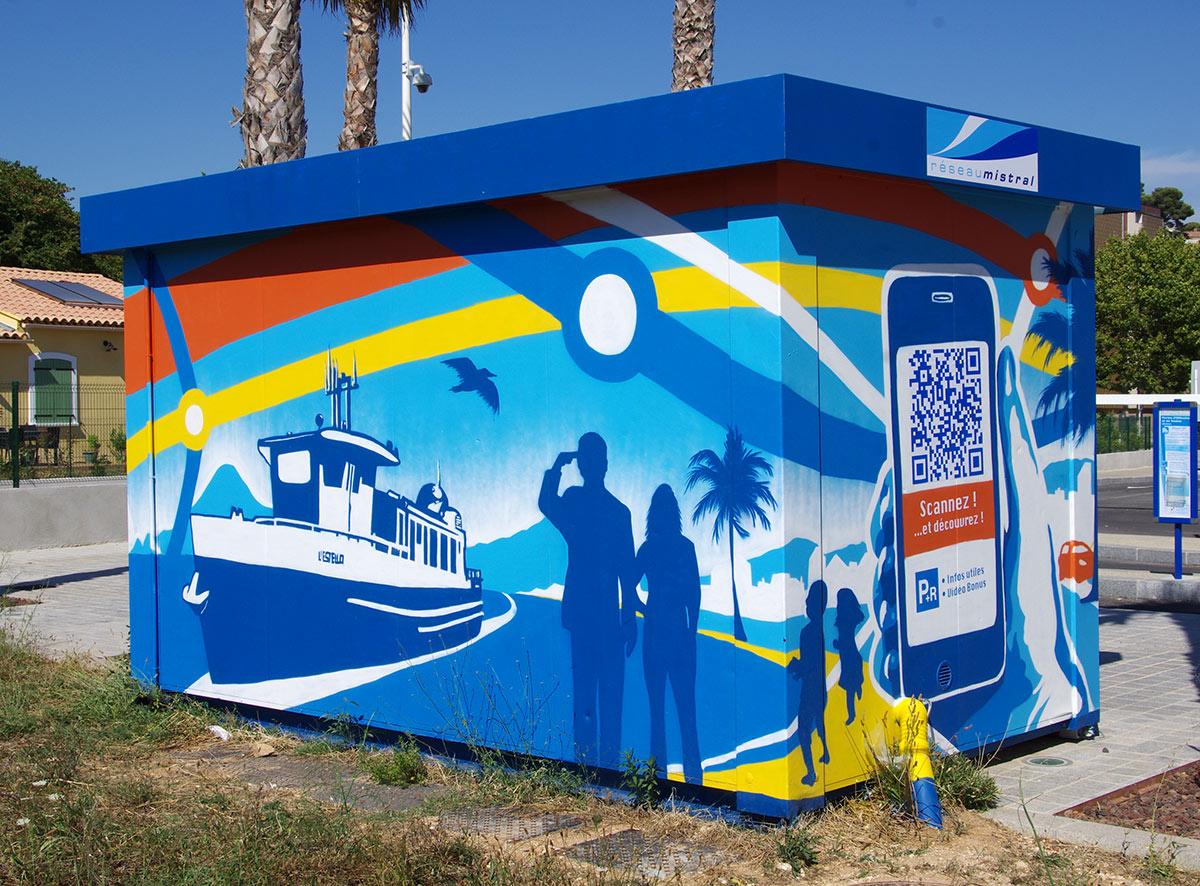 Fresques géantes communicantes Marseille