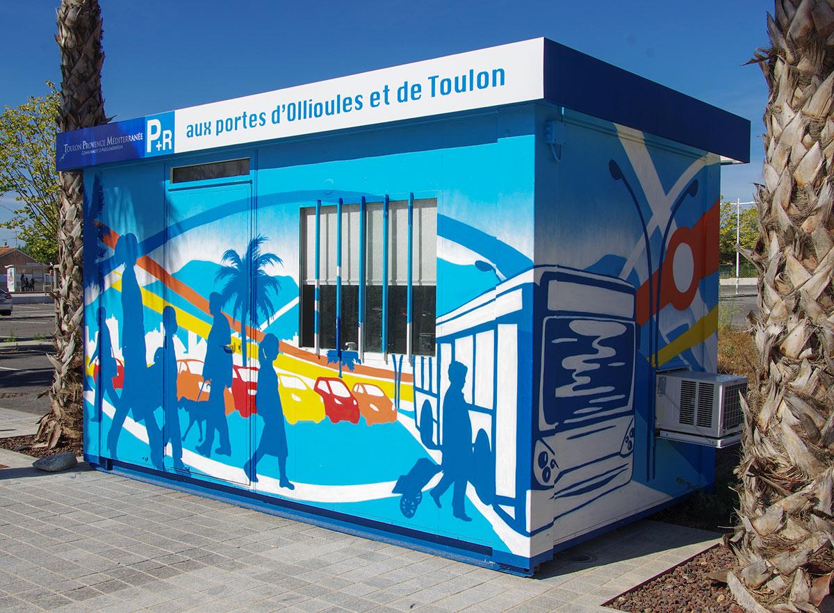 Fresques géantes communicantes Nice Côte d'Azur