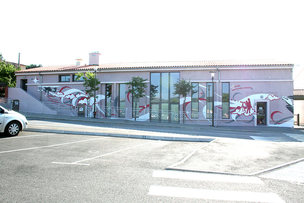 Fresque pôle culturel Marseille