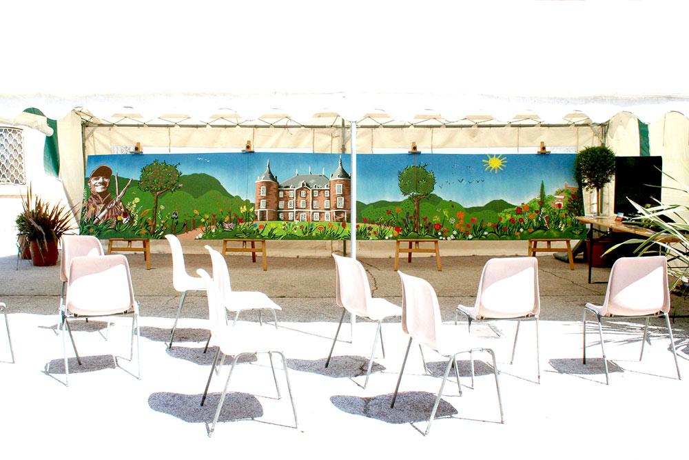 Fresque live festivité municipale Var