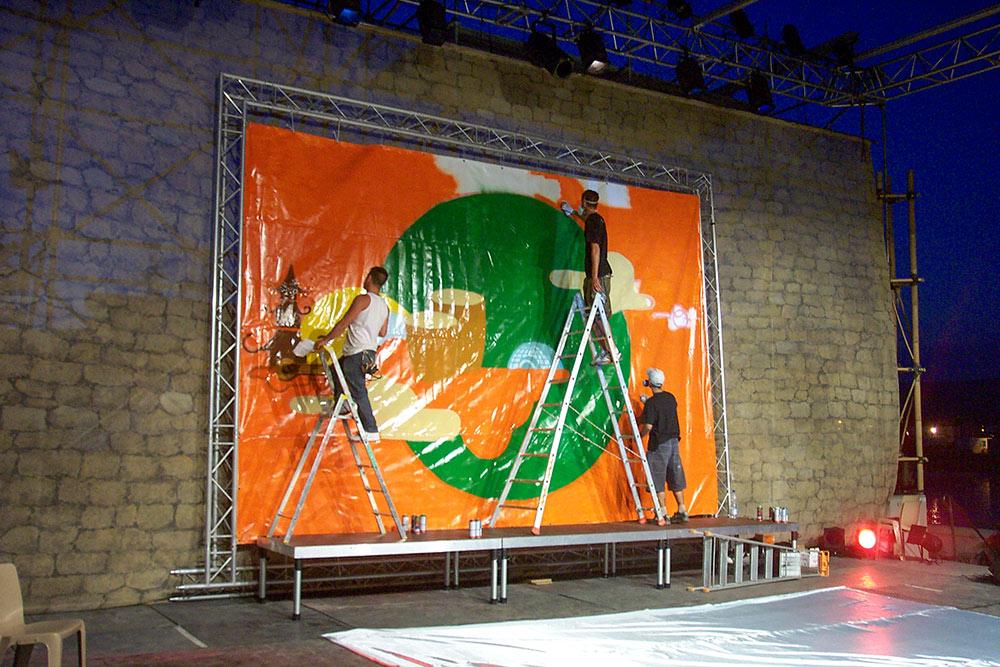 Fresque live concert La Seyne sur mer