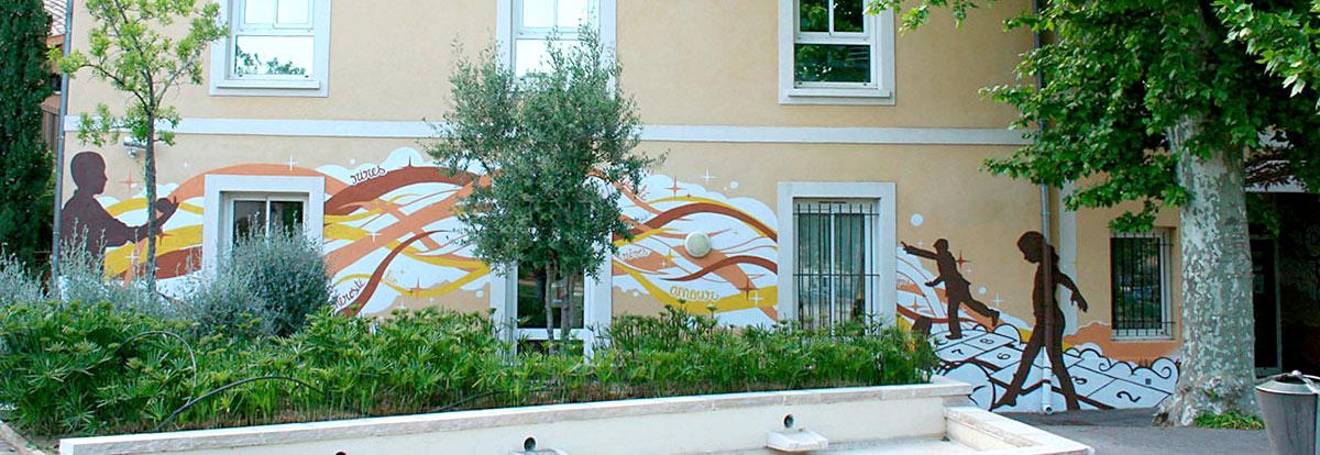 Fresque centre de loisir Var