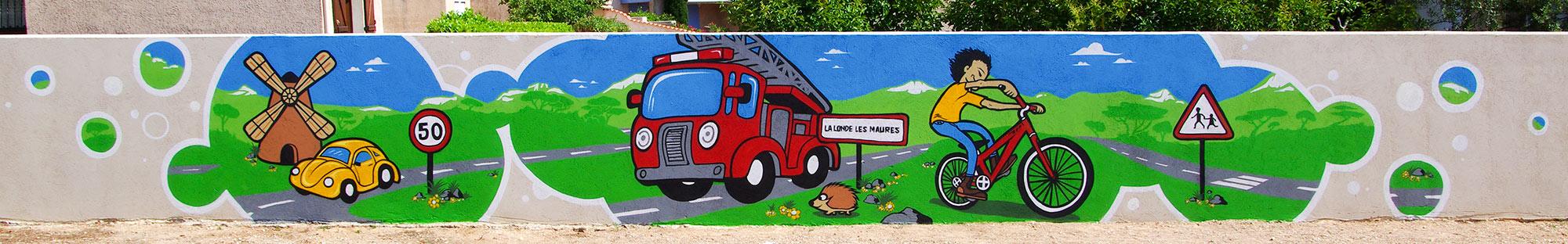 Fresque école maternelle Hyères Var