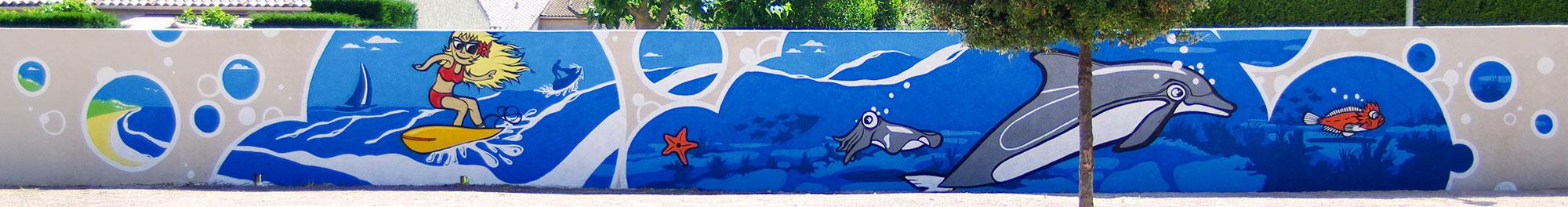 Fresques citoyennes école maternelle Toulon