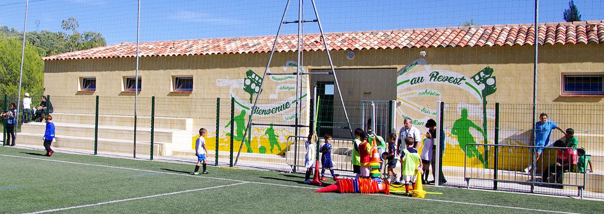 Fresque club sportif Toulon Football Revest