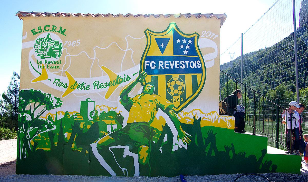 Fresques citoyennes club sportif Toulon Football Revest