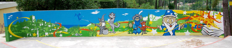 Fresques citoyennes école élémentaire Var PACA