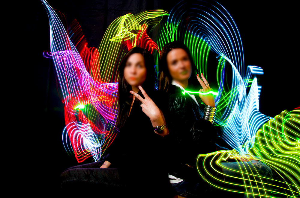 Light Painting animation photo Toulon Var