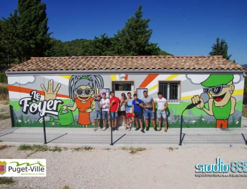Fresque citoyenne au Foyer de la jeunesse de Puget-Ville, Var (83)
