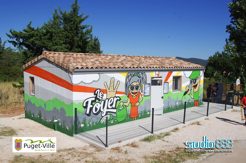 Fresque citoyenne à Puget Ville Var 83