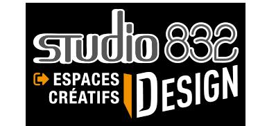 Logo du pôle design du Studio 832