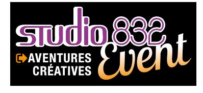 Logo du pôle événementiel du Studio 832
